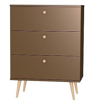 Tenzo 1103-088 Haze Designer Kommode, 101 x 76 x 43 cm, bronze / eiche