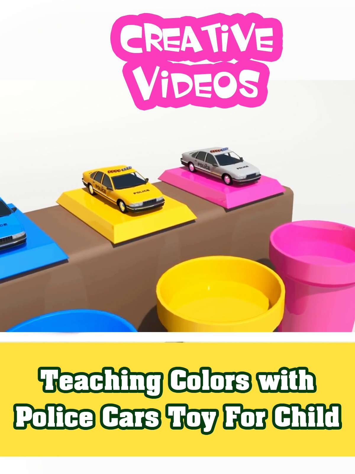 Teaching Colors with Police Cars Toy For Child