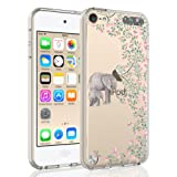 SYONER Clear Phone Case Cover for Apple iPod Touch 2019 / iPod Touch 7 / iPod Touch 6 / iPod Touch 5 [Elephant] (Color: Elephant)