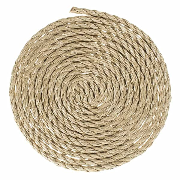 GOLBERG G ProManila Rope (1/4 Inch, 10 Feet) Tan Twisted 3 Strand Polypro Cord - Marine, Nautical, DIY Projects, Tie Downs (Color: Tan, Tamaño: 1/4 Inch x 10 Feet)