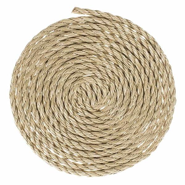 GOLBERG G ProManila Rope (1/4 Inch, 10 Feet) Tan Twisted 3 Strand Polypro Cord - Marine, Nautical, DIY Projects, Tie Downs (Color: Tan, Tamaño: 1/4 Inch x 10 Feet)