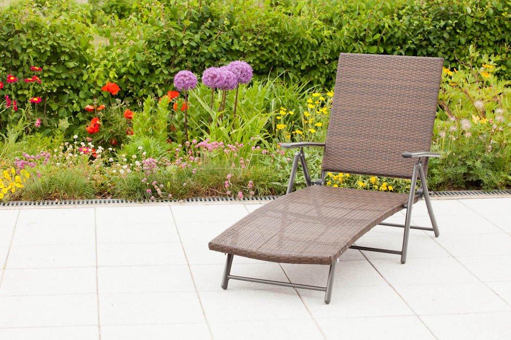 Deckchair PANAMA Alu + Stahl + Geflecht moccafarben, klappbar günstig kaufen
