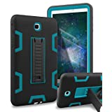 XIQI Galaxy Tab A 8.0 Case Three Layer Hybrid Rugged Heavy duty Shockproof Anti-Slip Case Full Body Protection Cover for Samsung Galaxy Tab A 8.0 inch 2015 release (Not fit 2017),Black/Bule (Color: Black Blue)
