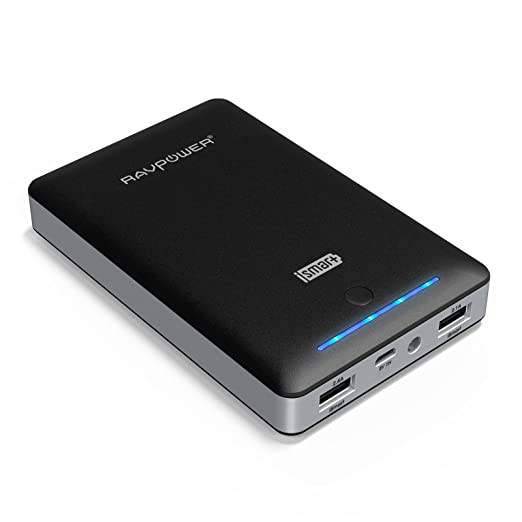 RAVPower 3rd Gen Deluxe 15000mAh External Battery Portable Dual USB Charger 4.5A Output Power Bank. iSmart(tm) Broad Compatibility, Fast Charging, High Capacity, Ultra Compact. For iPhone 6 6 plus 5S 5C 5 4S, iPad Air mini (Apple 30pin and Lightning Cable