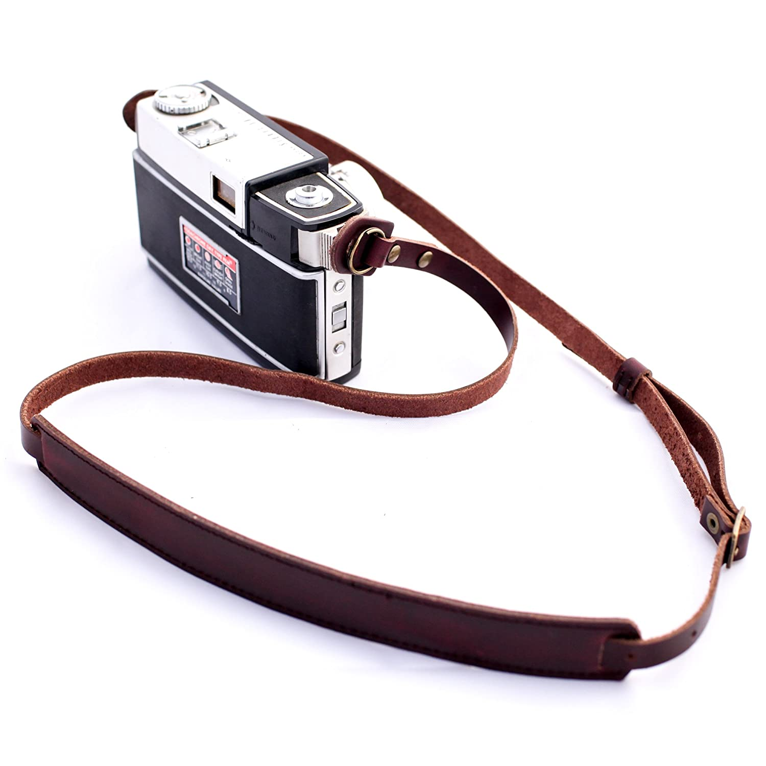 b.still Genuine Leather Camera Shoulder Neck Strap for SLR Canon Sony Leica Nikon Pentax Panasonic Olympus Fuji