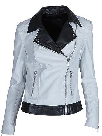 STORM & MARIE Damen Lederjacke Gipsy Bikerjacke Jacke Leder - Leder - mehrfarbig