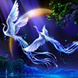 Adarl 5D DIY Diamond Painting Rhinestone Pictures of Crystals Embroidery Kits Arts, Crafts & Sewing Cross Stitch Phoenix 1 (Color: Phoenix 1, Tamaño: 14