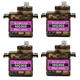 RioRand 4 x MG90S Metal Geared Micro Servo For Plane Helicopter Boat Car New