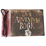Linkedwin Our Adventure Book DIY Scrapbook/Wedding Photo Album, with Pixar Up Movie Postcards & Stickers (Light Brown Pages) (Color: A: Light Brown Pages, Tamaño: 11.61 * 7.48 inch)