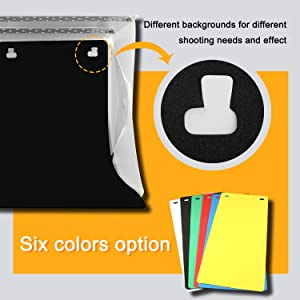 Portable Photo Light Box Kits, Zenic Mini Folding Photography Studio Shooting Tent Kits with Cellphone Holder 6 PCS Backdrops for Photography (Tamaño: 9.5 x 9 x 9.8 in with double lights)