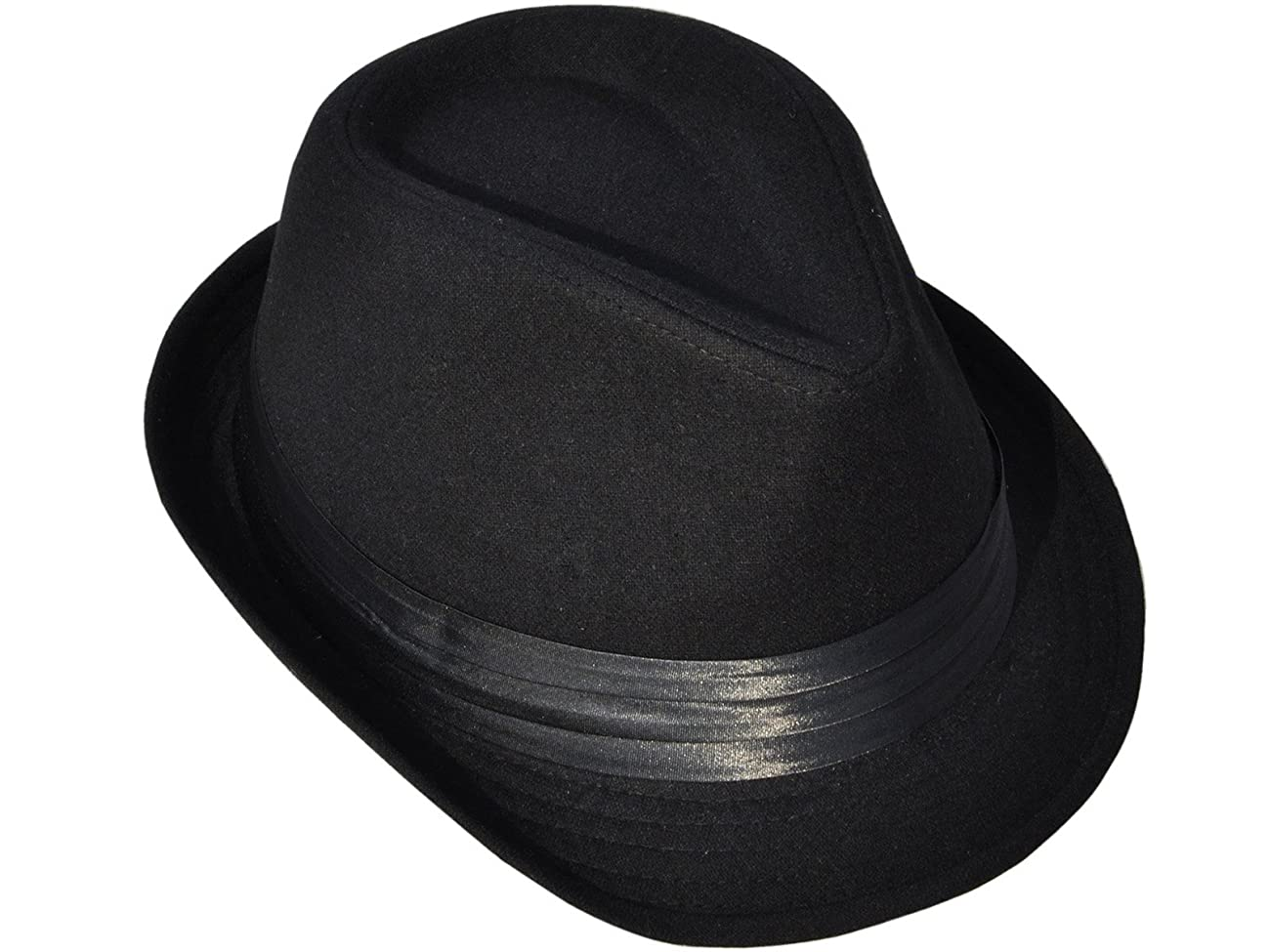 Simplicity Men Women Manhattan Structured Gangster Trilby Wool Fedora Hat 1