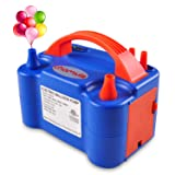 chamvis Electric Balloon Inflator Air Pump Dual Balloons Blowers US Standard Plug for Balloon Garland, Balloon Arch, Balloon Column Stand, and Balloon Decoration [110V~120V, 600W, Blue] (Color: Blue)