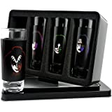KISS Faces Shot Glass Glasses Set (4 Pack)