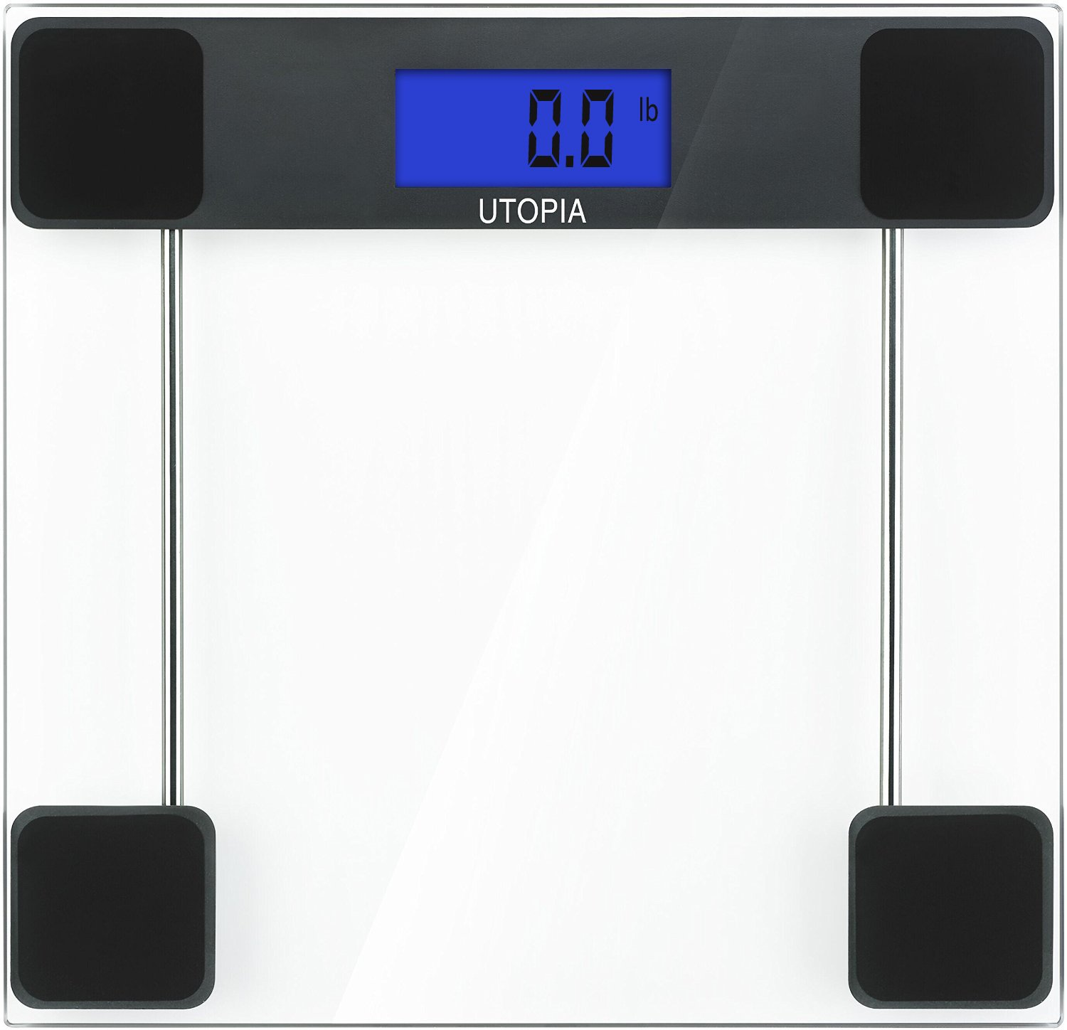 Digital Glass Bathroom Scale 6mm Thick Tempered Glass - Transparent By Utopia Care