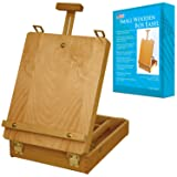 U.S. Art Supply Newport Small Adjustable Wood Table Sketchbox Easel, Premium Beechwood - Portable Wooden Artist Desktop Storage Case - Store Art Paint, Markers, Sketch Pad - Student Drawing, Painting (Color: Small Easel, Tamaño: Small)