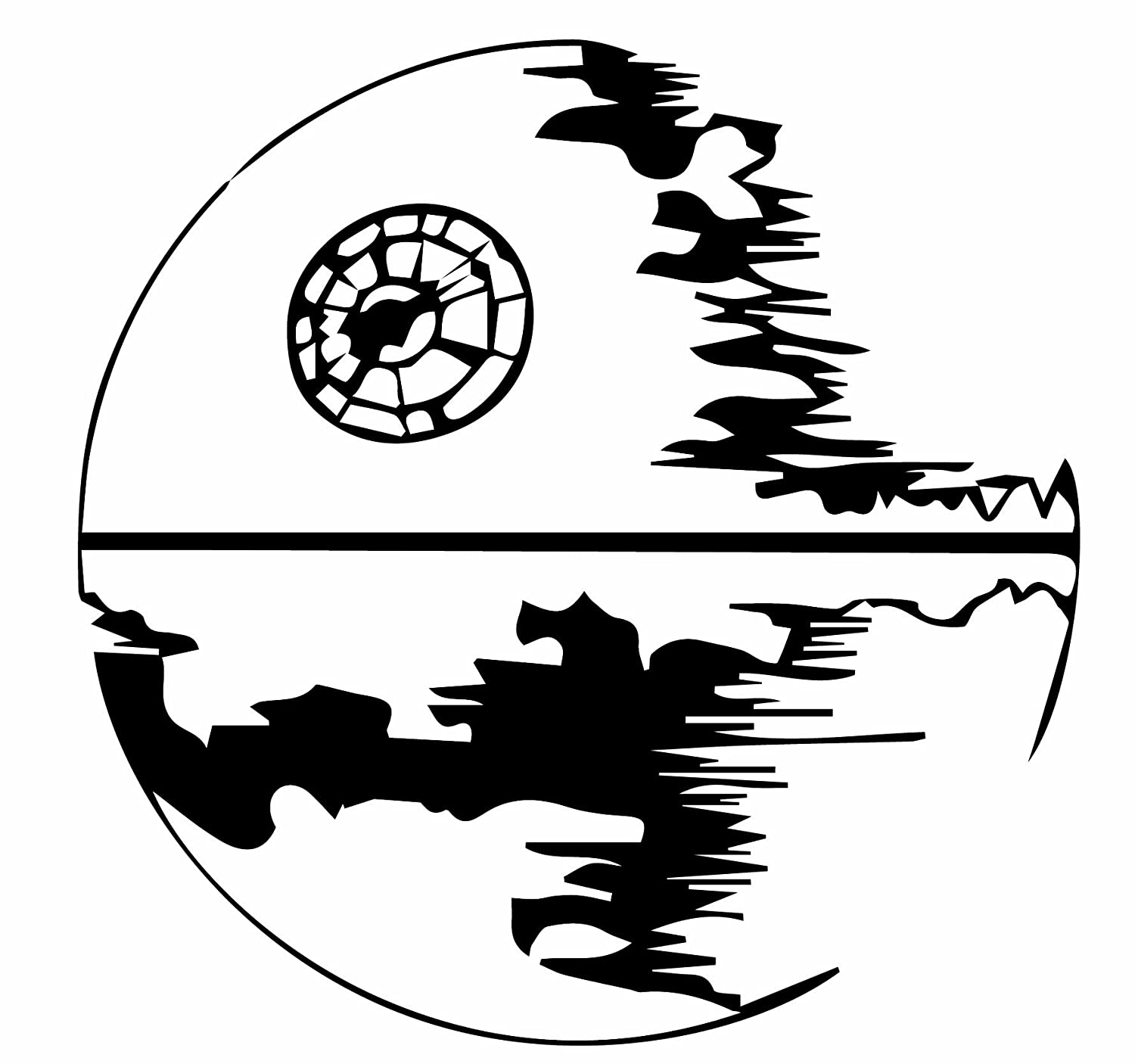 Line Drawing Star : Death star line drawing