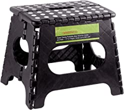 Greenco Super Strong Foldable Step Stool for Adults and Kids 11quot Black