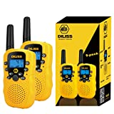 DilissToys Walkie Talkies for Kids Voice Activated Walkie Talkies for Adults and Kids 3 Mile Range 2 Way Radio Walkie Talkies Built in Flash Light 2 Pack Yellow (Color: Yellow)