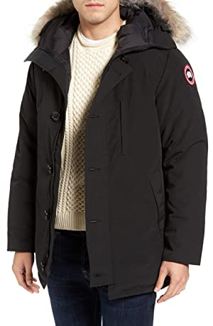 CANADAGOOSE Chateau` Slim Fit Genuine Coyote Fur Trim Jacket (並行輸入品)