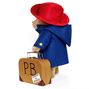 Paddington Bear 16Soft Toy w/ suitcase (Color: Paddington W Suitcase, Tamaño: Medium)