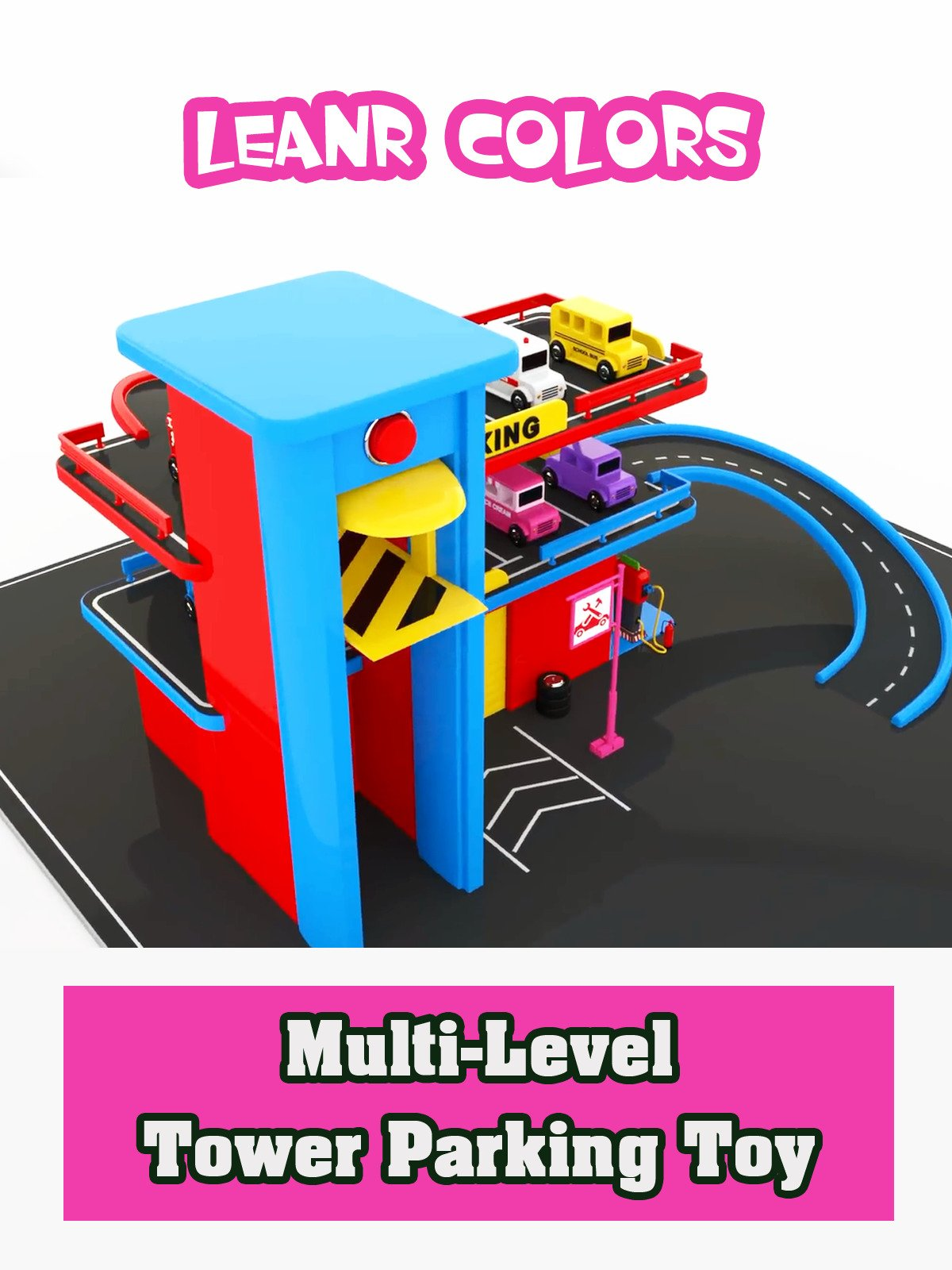 Learn Colors with Multi-Level Tower Parking Toy