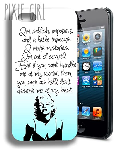 Iphone 5 Cases Marilyn Monroe Quotes NEW Marilyn Monroe Cute