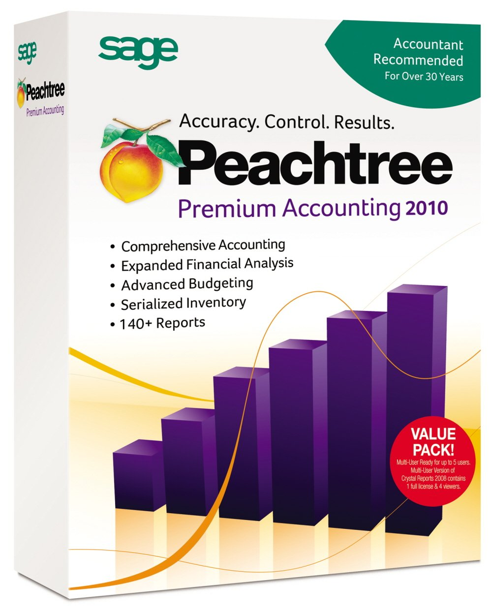 Peachtree By Sage Premium Accounting 2010 Multi-User