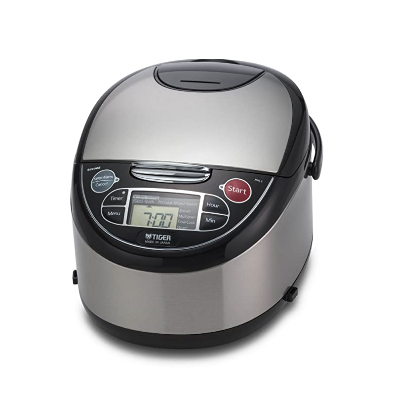 Tiger JAX-T10U-K 5.5-Cup (Uncooked) Micom Rice Cooker with Food Steamer & Slow Cooker via Amazon