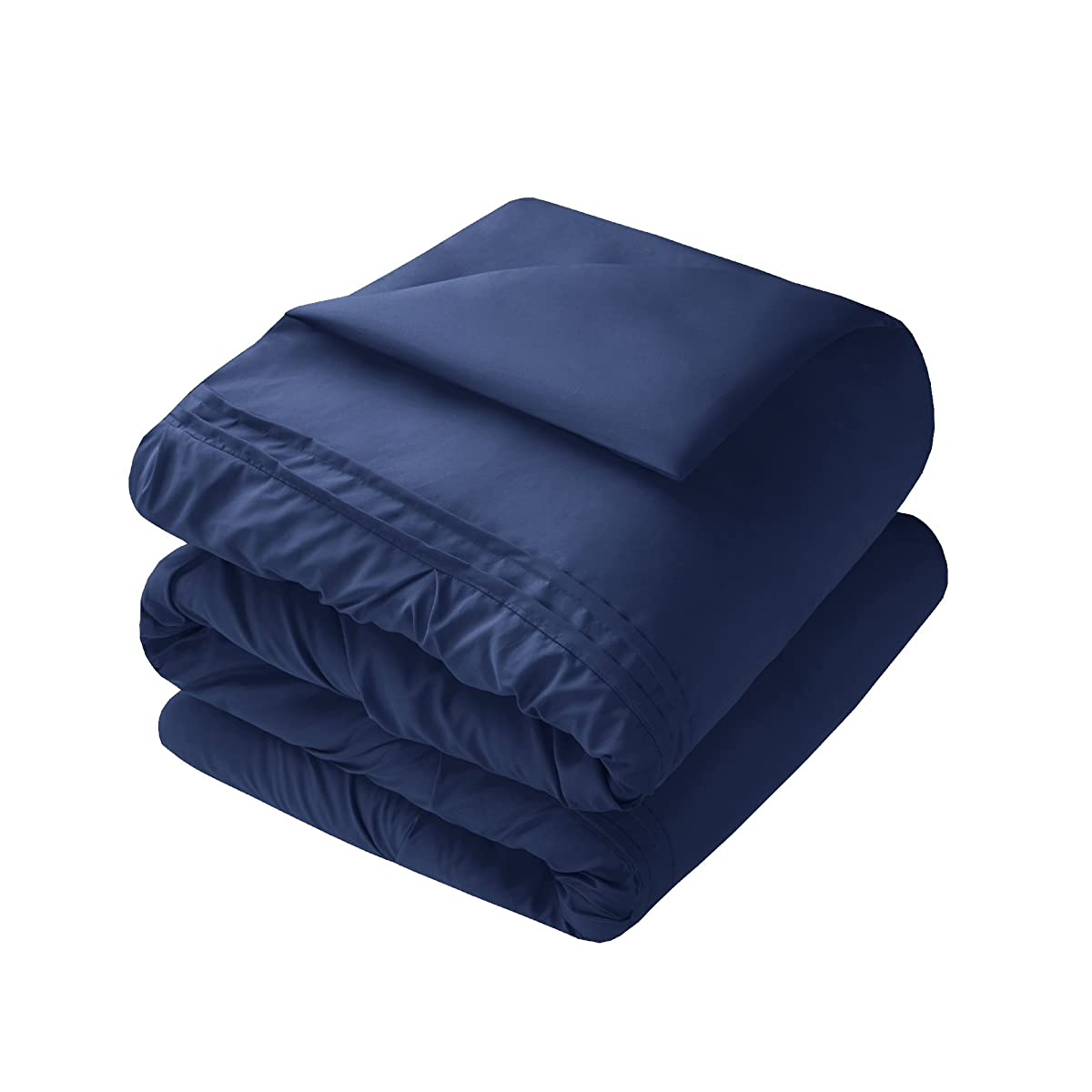 Comfort Spaces – Cavoy Comforter Set - 5 Piece – Tufted Pattern – Navy – Full/Queen size, includes 1 Comforter, 2 Shams, 1 Decorative Pillow, 1 Bed Skirt