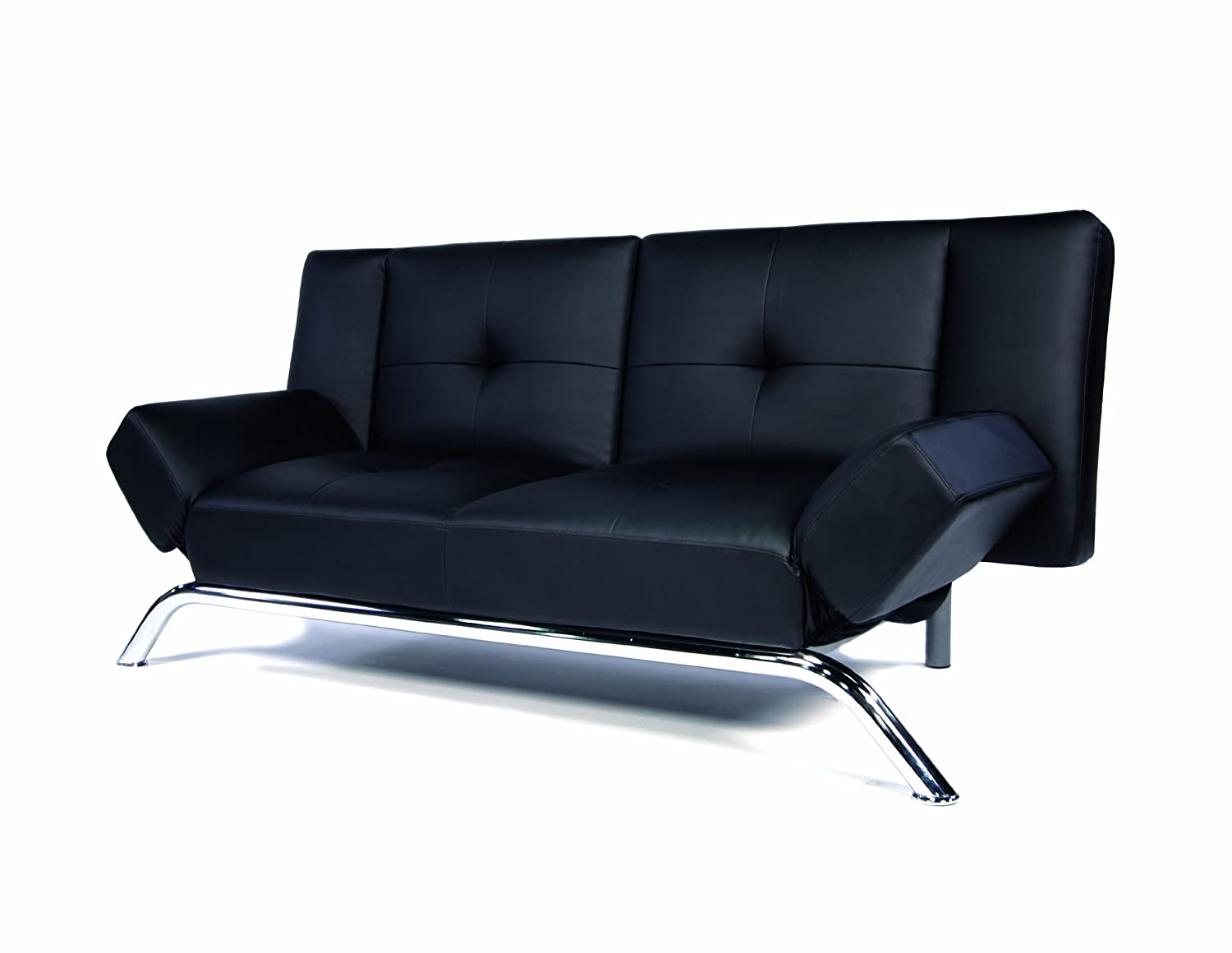 DHP Emma Convertible Sleeper Futon - Black