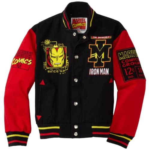 Iron Man 63 Varsity Jacket (Black/Red, Youth X Small)