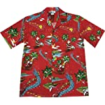 Hawaiian VINTAGE Santa Rudolph Reindeer Christmas Aloha Shirt
