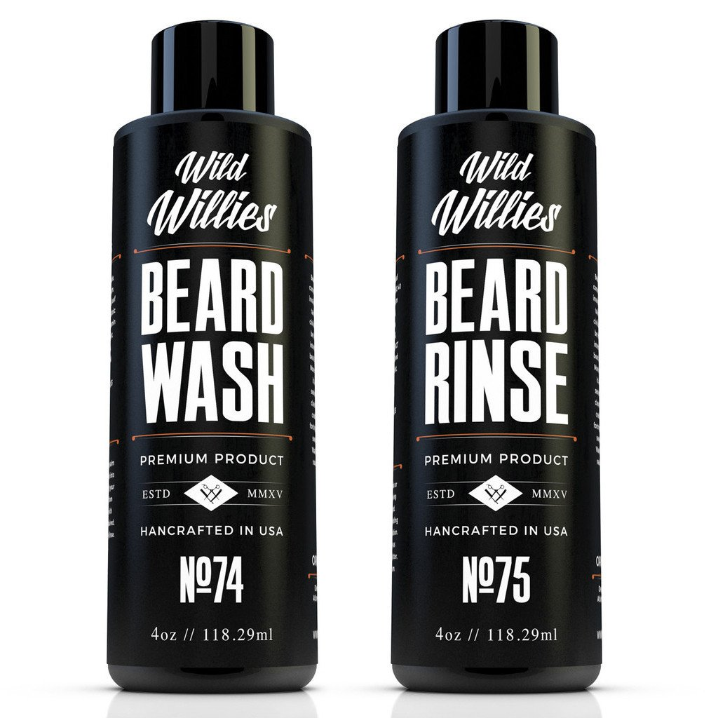 Wild Willies Beard Wash and Conditioner Bundle Packed with Organic Oils and Nutrients to Shampoo and Soften Your Beard, while Peppermint & Eucalyptus Leave An Incredible Tingle. Proudly American Made