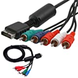 HDE PS2 and PS3 High Resolution HDTV Component RCA AV Audio Video Cable