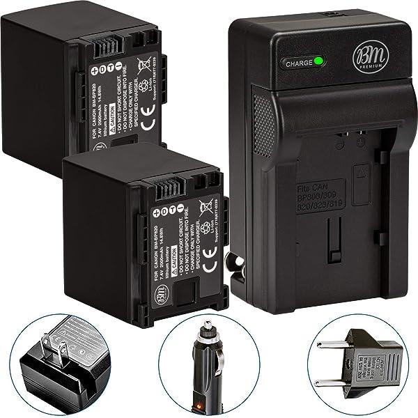 Batería CARGADOR para Canon ivis hf10 hf11 hf100 chip