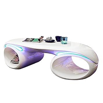 Invicta Interior 21772 Couchtisch Futura, weiss, mit LED Beleuchtung