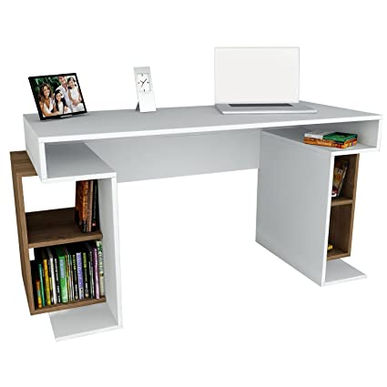 Bureau table/bureau Monument dans blanc de noyer Marron