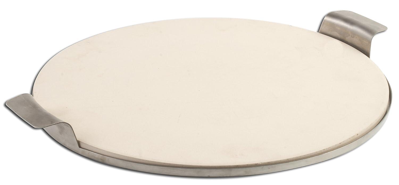 Pizzacraft 15Zoll Runde Pizza Stein mit Edelstahl massiv Rahmen günstig