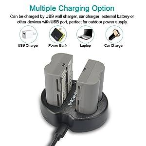Batería Cargador Nikon ENEL3E /& USB Cable UCE6 D100 D200 D50 D70 D70S D80