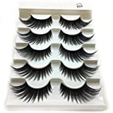 1 Box Luxury 3D False Lashes Fluffy Strip Eyelashes Long Natural Party (Color: A)