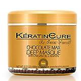 Keratin Cure Chocolate Max Deep Hair Mask Masque Moisturizing Reparation Shea Butter Argan Oil Strengthen Boosts Growth Smooths Frizz Scalp Treatment for all types 32 oz (Tamaño: 500gr / 17 oz)