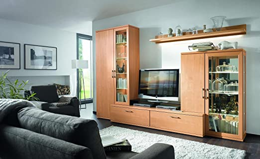 wohnwand buche natur 48 orig w stmann 03180021 amazon. Black Bedroom Furniture Sets. Home Design Ideas