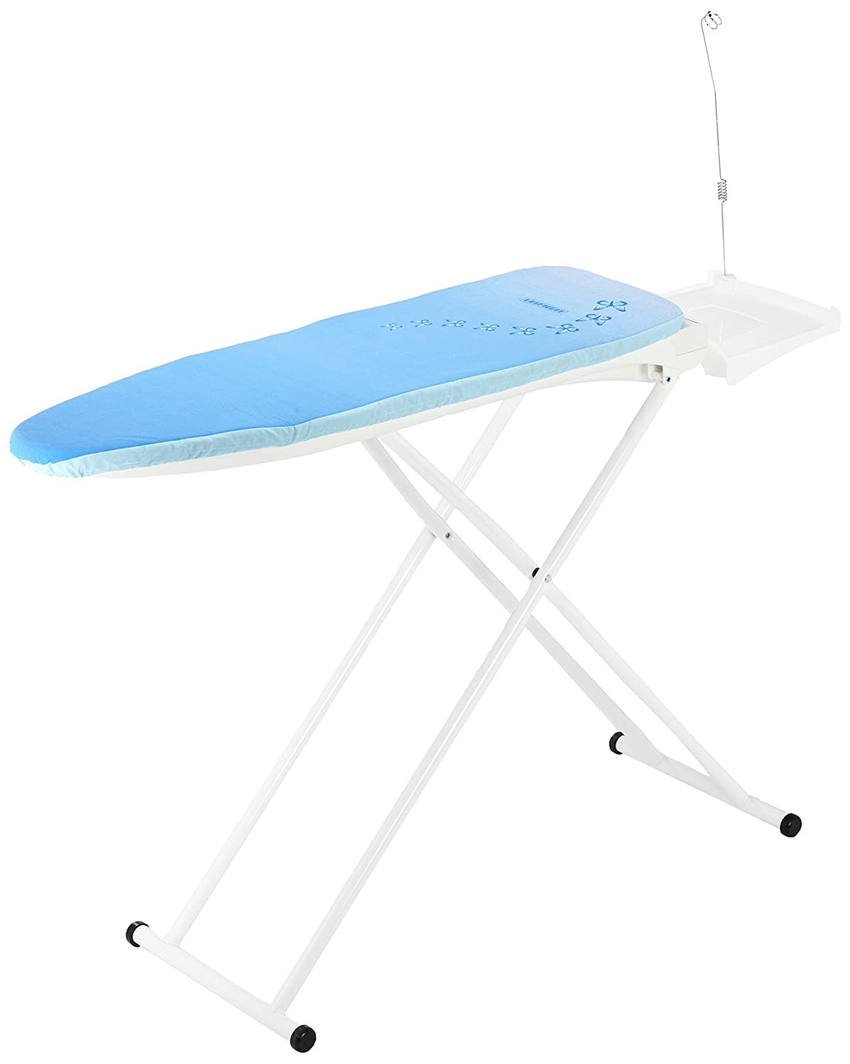 Leifheit Ironing Table AirActive M, Ironing Board, Active Functions, Large Iron Rest with Electricity Socket, Steady Base with Adjustable Legs, Cable Holder, 76080 7 M, VE 1