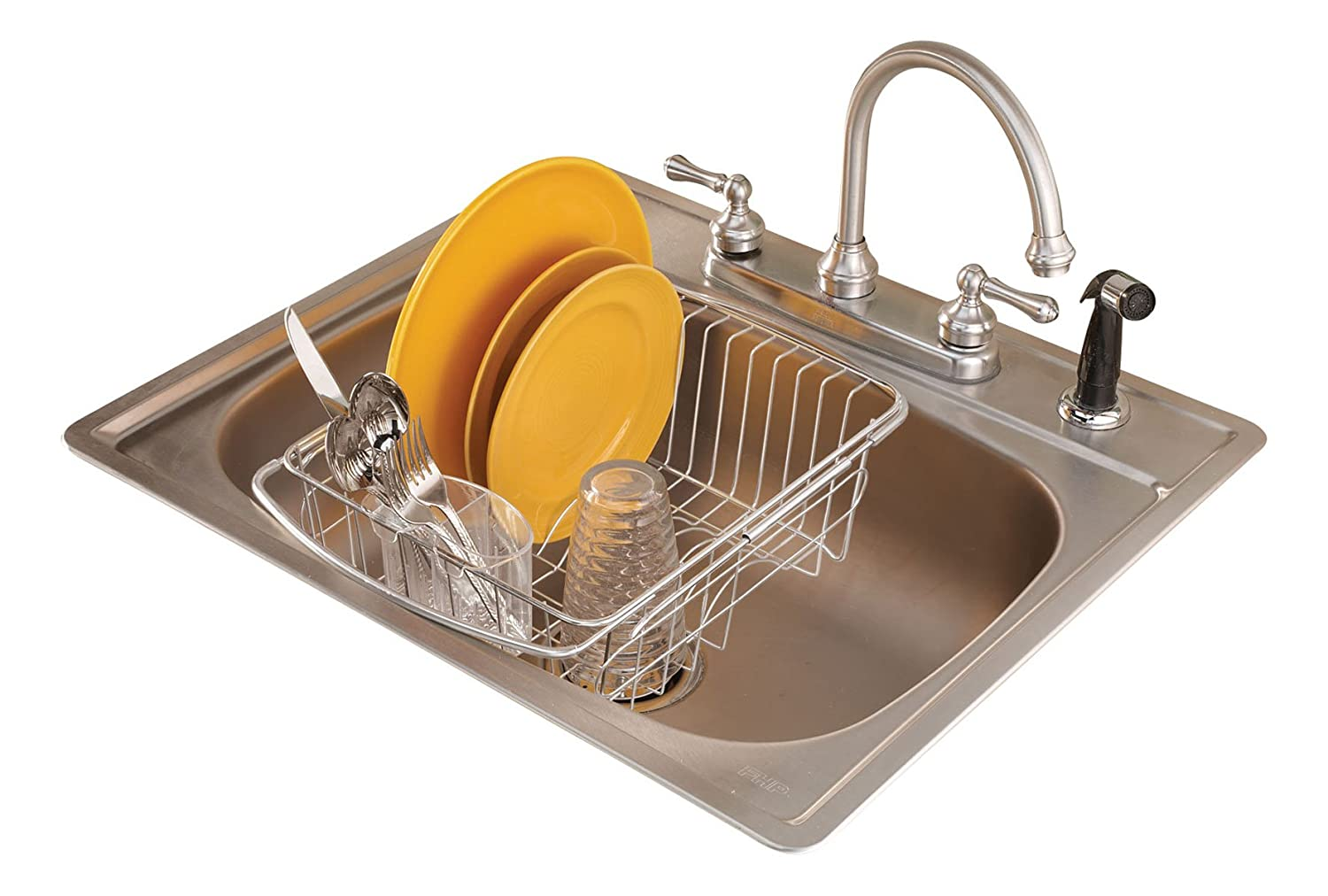 Stainless Steel Over The Sink Dish Drainer Rack Check Price