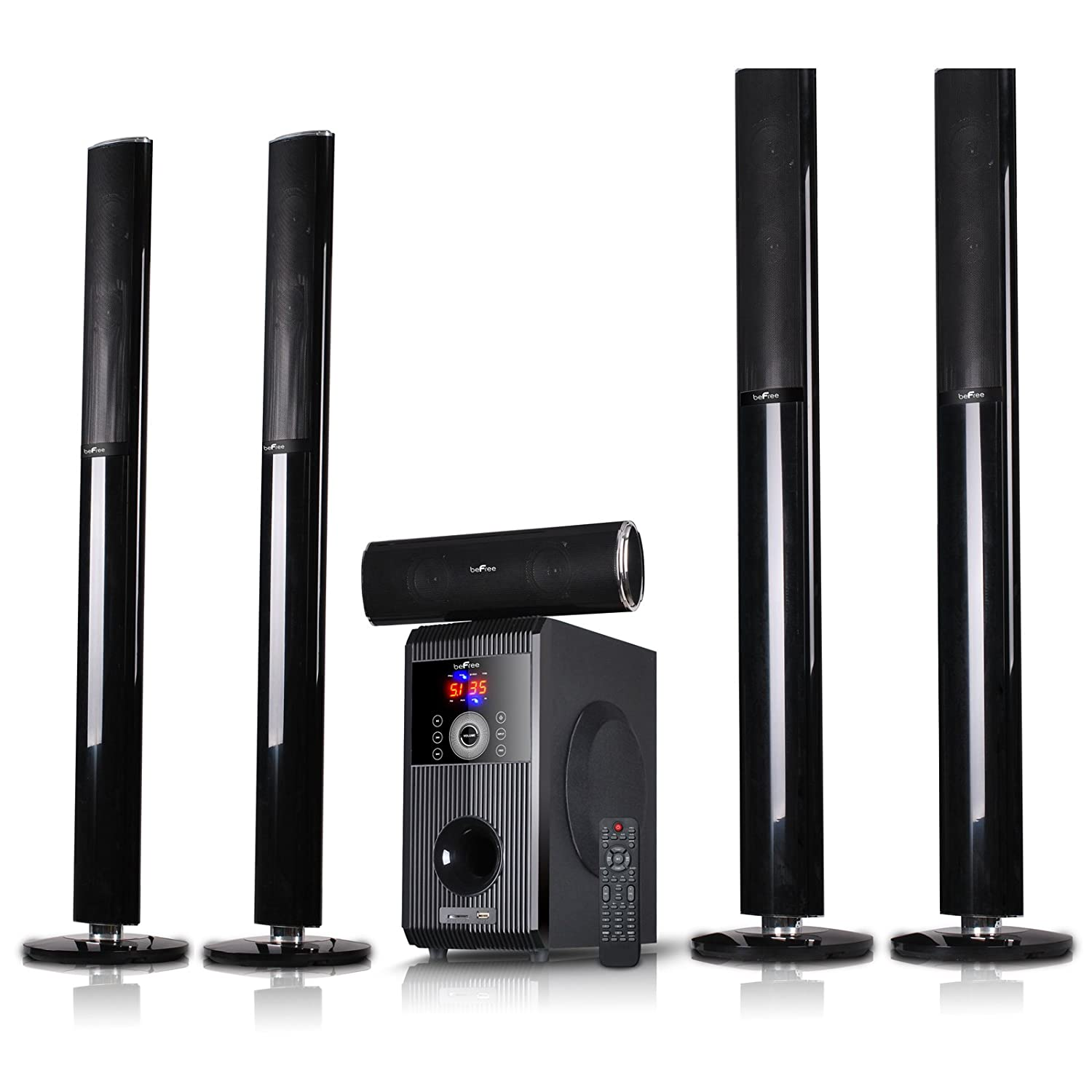 befree 5 1 channel surround sound bluetooth tower speaker. Black Bedroom Furniture Sets. Home Design Ideas