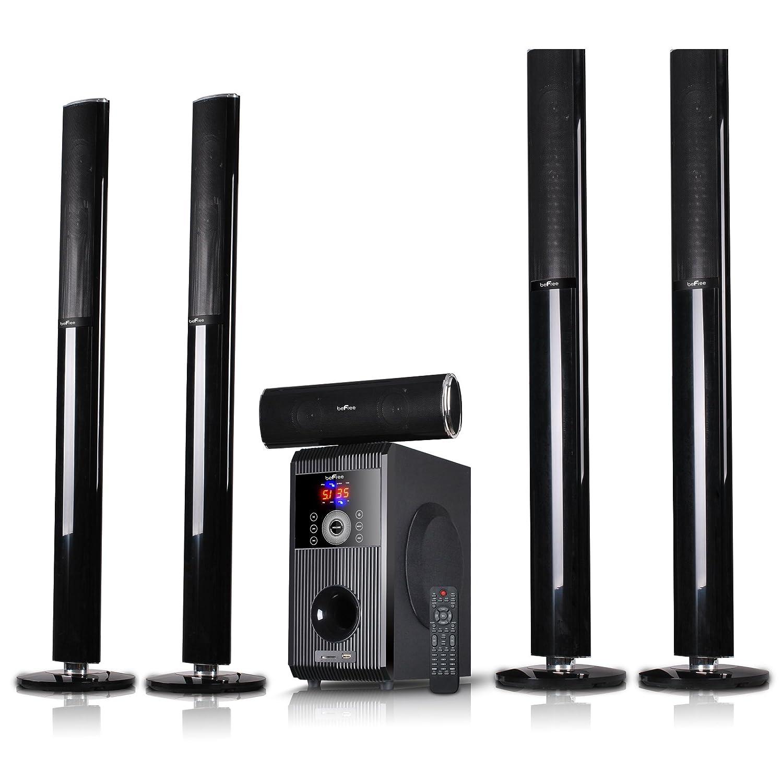 befree 5 1 channel surround sound bluetooth tower speaker. Black Bedroom Furniture Sets. Home Design Ideas