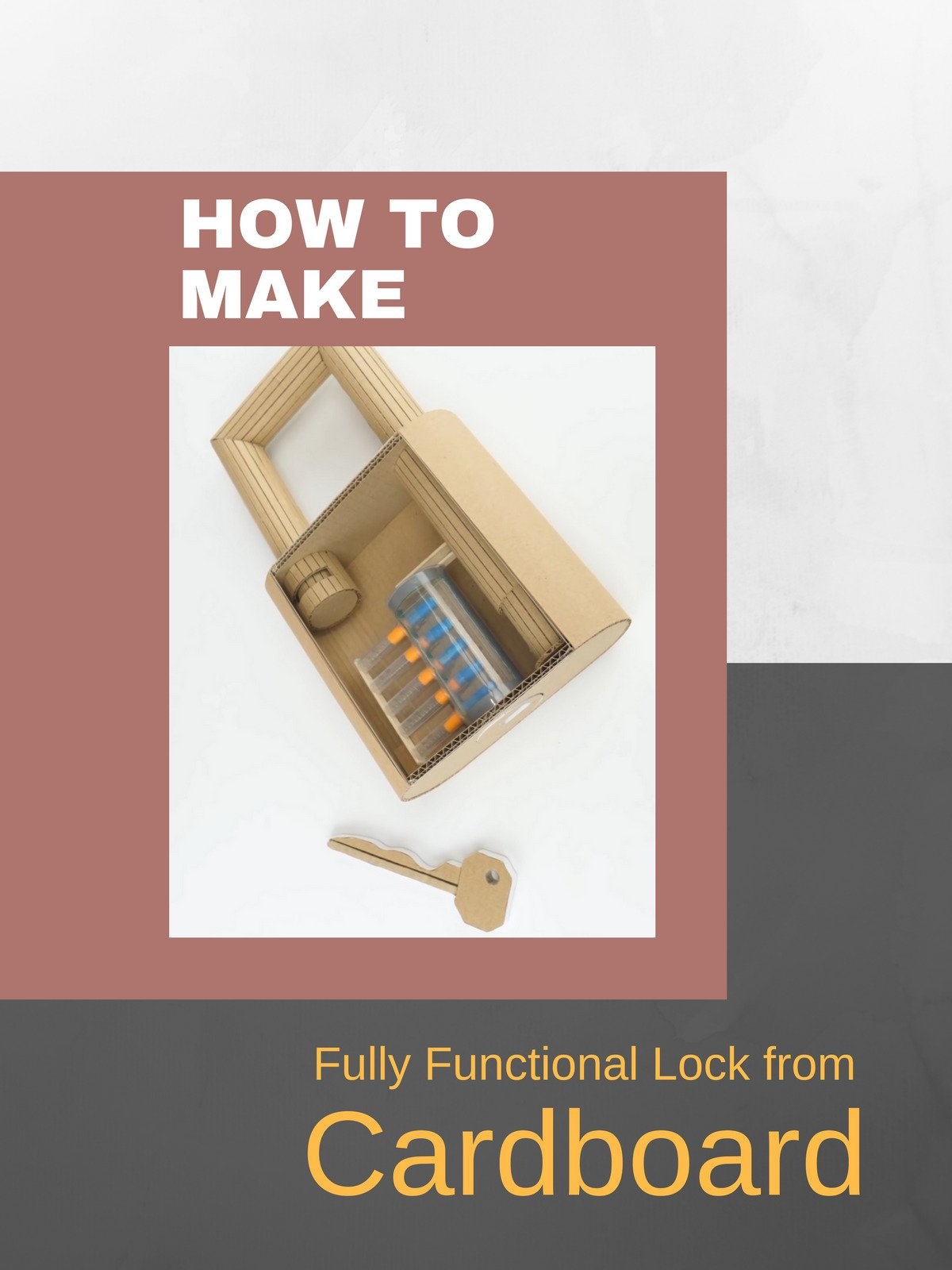 How to Make Fully Functional Lock from Cardboard on Amazon Prime Instant Video UK