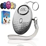 Personal Alarm Siren Song - 130dB Safesound Personal Alarm Keychain with LED Light, Emergency Self Defense for Women , Kids & Elderly. Security Safe Sound Rape Whistle Safety Siren Alarms by SLFORCE (Color: Silver)