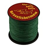 Dark Green super strong PE braided fishing line (300M, 30LB) (Color: Dark Green, Tamaño: 300M)