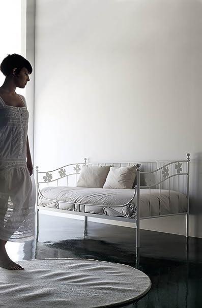 DECOARTESANAL-Cama divan LINO para somier 90x190cm,color negro